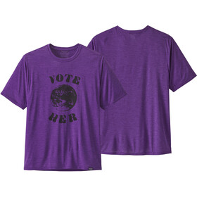 Patagonia Cap Cool Daily Graphic T-Shirt Heren, vote her/purple x-dye